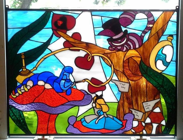 Custom Stained Glass Alice In The Kitchen